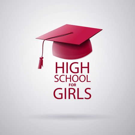 Logo high school for girls Ilustrace