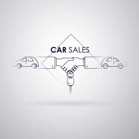 A Logo car sale of strokes on gray background Vector of IMAGE