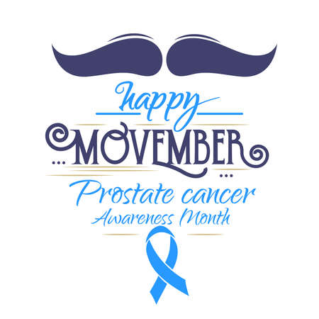 Movember male health event: mustache and vintage text