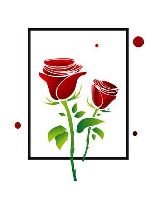 Frame red roses