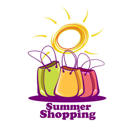 Sun and shopping bags