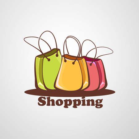 Simple shopping logo: Shopping bags