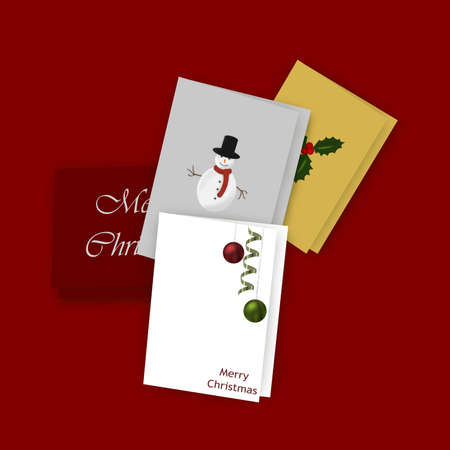Illustration of five greeting cards with illustrated covers illustration illustration of five greeting cards with illustrated covers scattered on a dark red surface m4hsunfo