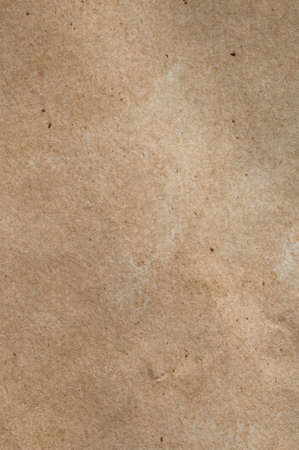 fibrous: A piece of mid-toned fibrous, textured brown paper with scratches, fibres and flecks visible.