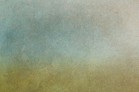 flecks: Mid-toned fibrous, paper texture with scratches, fibres and flecks visible. Blended, muted green and blue tones applied to suggest impressionistic grass and sky.
