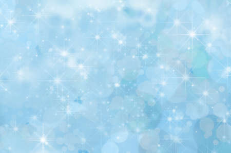 twinkling: A pale blue twinkling star background with misty clouds and bokeh.