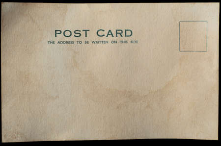 vintage card: A blank postcard, aged and weathered for antique or vintage effect.