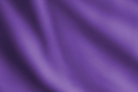 Softly draping blurred fabric in violet hue. Stock Photo