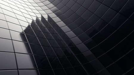zwarte 3d futuristische kubus abstractie achtergrond