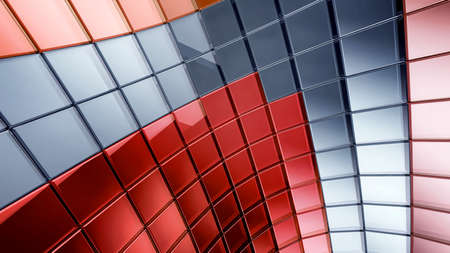 darck: Darck 3d futuristic abstraction background Stock Photo