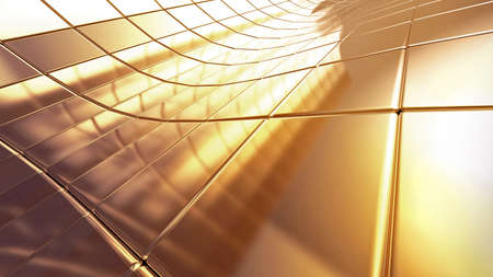 golden 3d abstraction background Stock Photo - 10487336