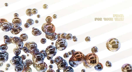 Metal 3d shine sphere abstraction photo