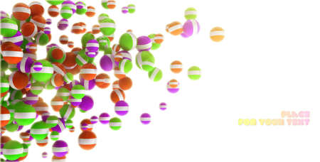 spellbinding: Colored 3d shine sphere abstraction with place for text