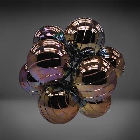 spellbinding: Metal 3d shine sphere abstraction