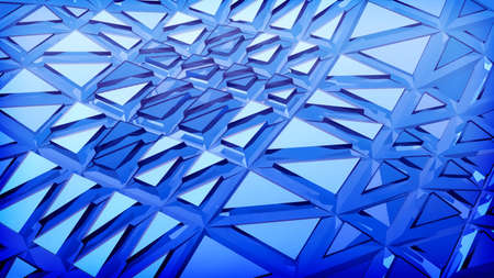 contrasts: Blue futuristic 3d plate abstraction background with conceptual design