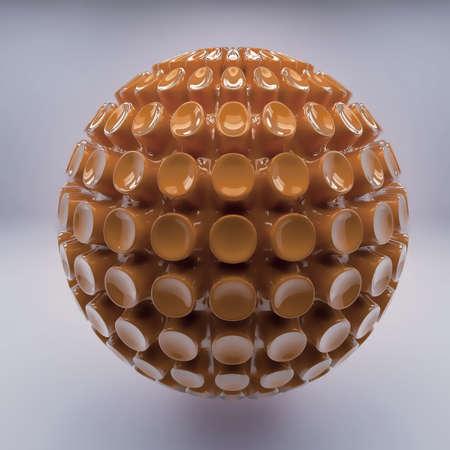 spellbinding: Brown 3d shine sphere abstraction