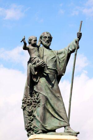 fanatical: statue of saint joseph Stock Photo