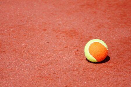 pallina da tennis sul giudice