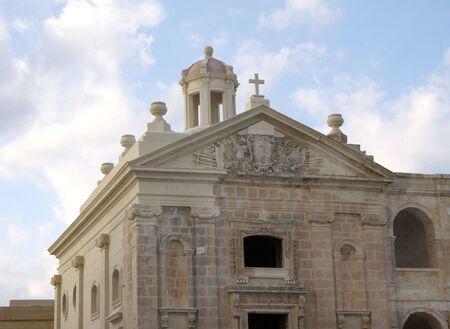 reconstruct: a restored chapel on manoel island in malta Stock Photo