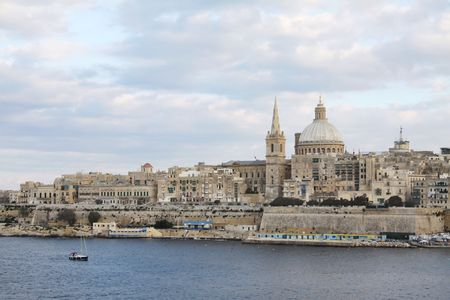cityscape of valletta, capital city of malta