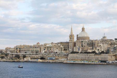 paesaggio urbano di valletta, la citt� capitale di malta