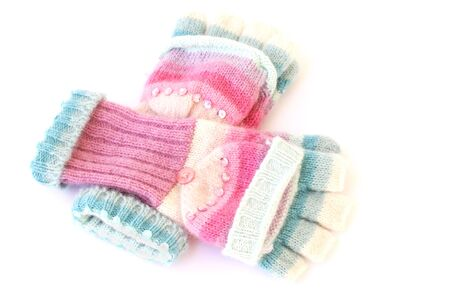 woolen female gloves isolated on a white background Stock Photo - 6247811