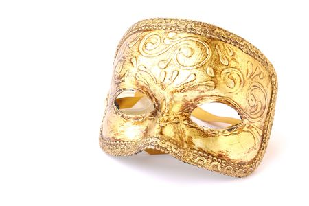 masque: masquerade male mask isolated on a white background