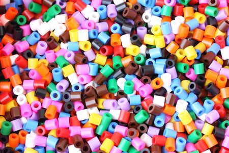 abstract background of multi colored beads Stock Photo - 6393069