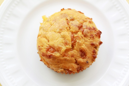 cheese burger muffin on a plate Stock Photo