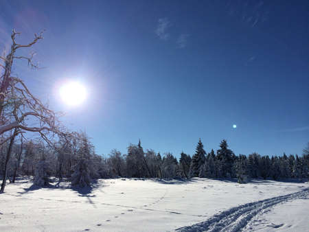 country side: Winter snow country side