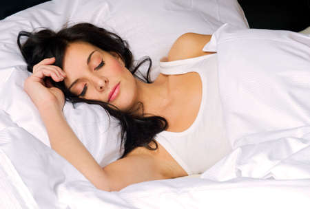 Beautiful young woman sleeping Stock Photo - 2586230