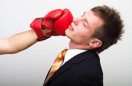 distressful: Unhappy young businessman - hangdog Stock Photo
