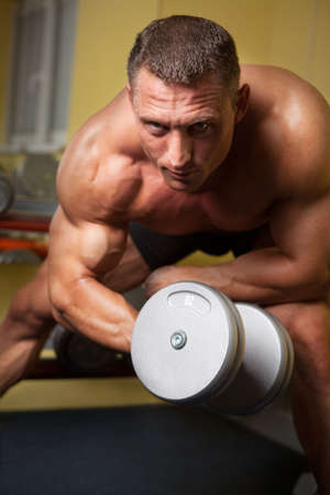Biceps shot of a strong handsome man Stock Photo - 5341268