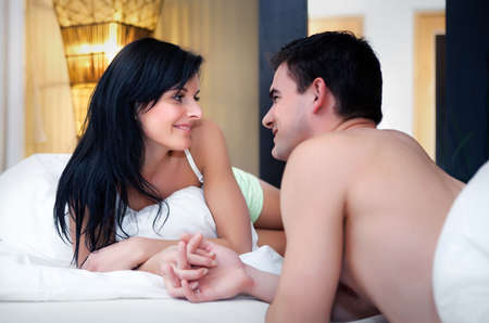 Young attractive happy amorous couple  Stock Photo
