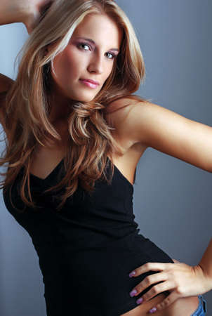Portrait of beautiful young fashion model