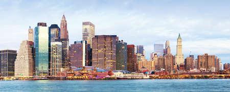 NY - Manhattan over the river - early morninig