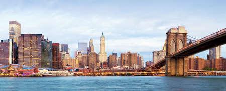NY - Manhattan sur la rivière - morninig début Banque d'images