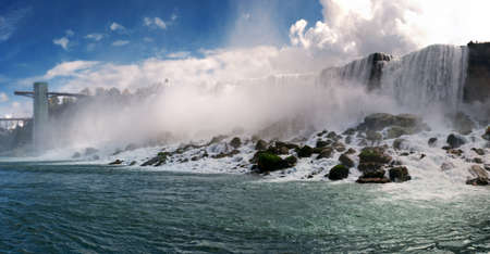 Nice panoramic view of Niagara Falls photo