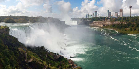 Panoramic view of Niagara Falls from American
