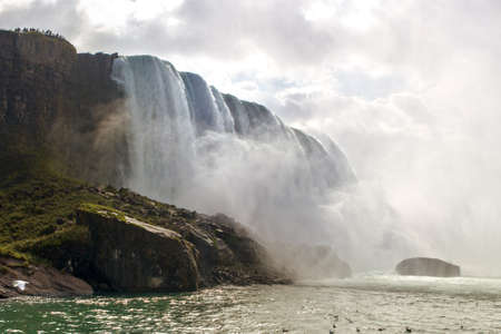 turbulence: Nice view of Niagara Falls - shot from boat Stock Photo