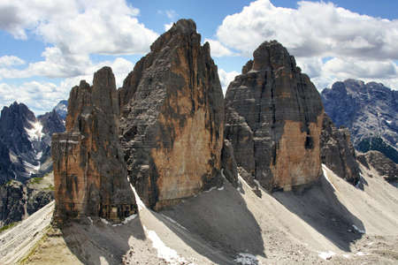 Alpine dolomiti - Tre Cime mountain Stock Photo - 17844257