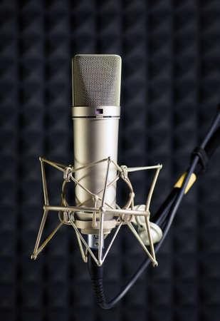 recording studio: Condenser microphone in recording studio