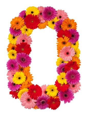 Letter O - flower alphabet isolated on white background