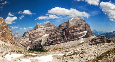 Panoramic view of Italian Dolomiti Mountains - Group Tofana