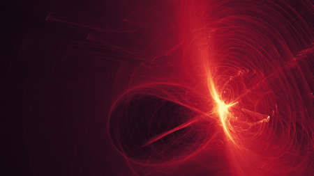 walpaper: Chaotic red abstract background - science walpaper