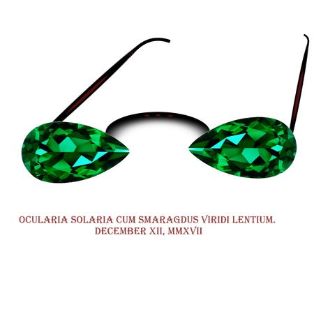 녹색 에메랄드 렌즈가 달린 선글라스