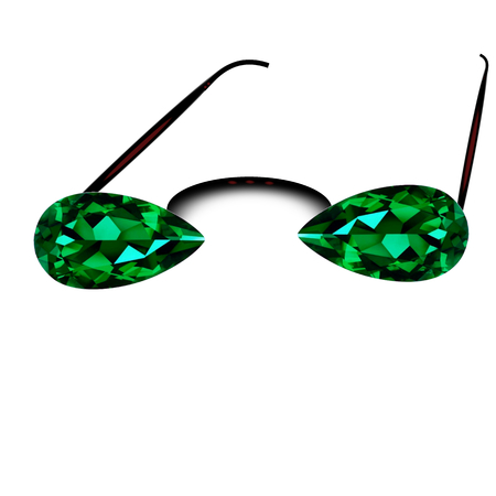 sunglasses with green emerald lenses
