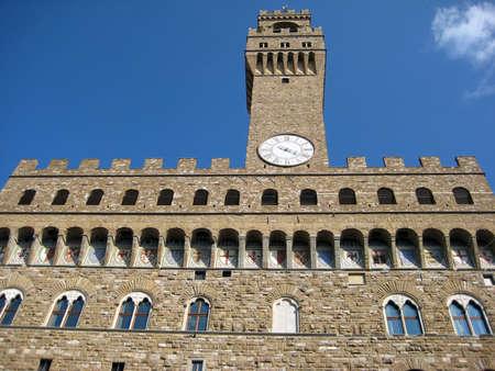 signoria square: Old palace in Signoria square Florence  Italy  Editorial