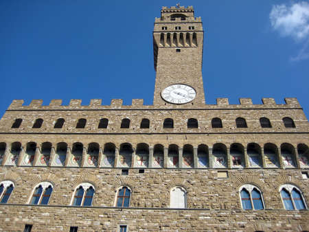 signoria square: Old palace in Signoria square, Florence  Italy