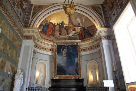 sissy: Chapel inside Achillion palace in Corfu, Greece